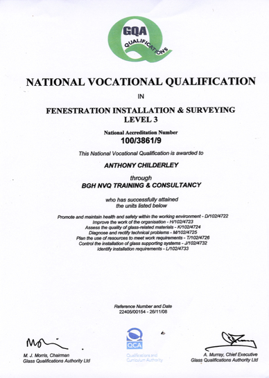 NVQ Fully Trained Staff