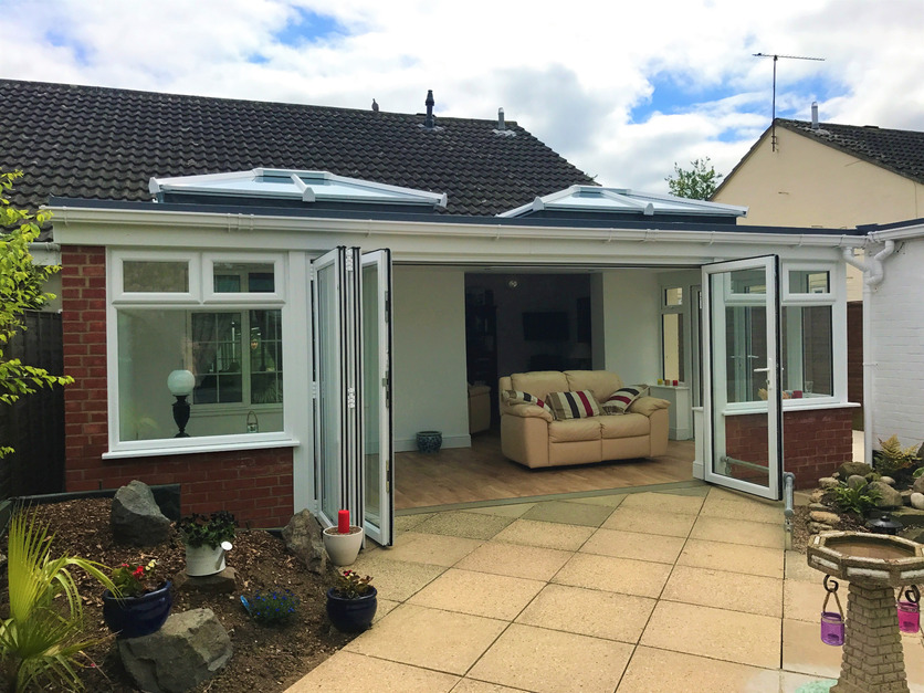 disabled acces conservatory with sky pods and Sarnafil roofing