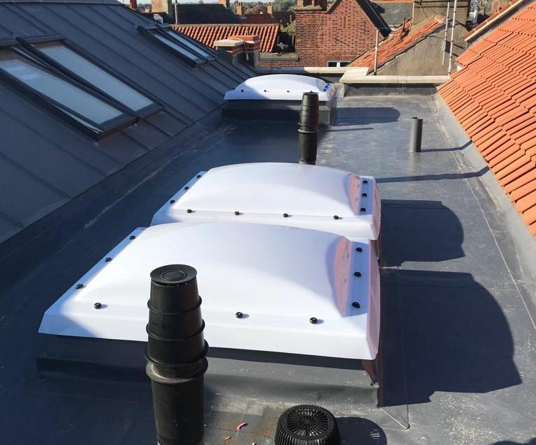 Sarnafil roofing and sky lights